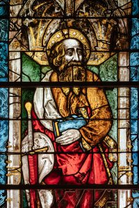 Valentijn man liefde dag van katholiek glas in lood 1200
