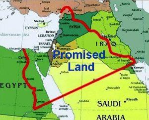 Israel beloofde land landkaart