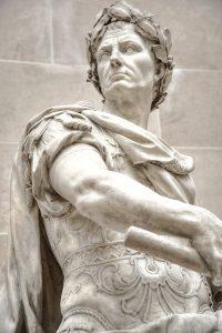 Zijn als een romein identiteit ik ben romeinen rechtvraardig ceasar beeld