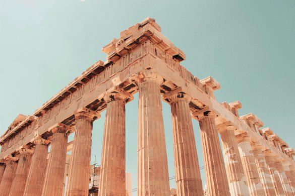 Een Ster van een Korinthiër identiteit overwinning rijkdom belofte bediening God Bijbel Jezus Griekenland Parthenon Athene